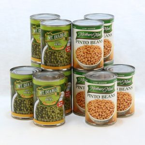 canned peas & pinto beans